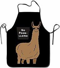 Grembiule Design Divertente No Prob Lama Rosso