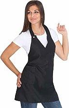 Grembiule Donna da Cucina Personalizzabile - Nero