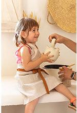 Grembiule in lino e cotone Zacari Kids Beige Lino