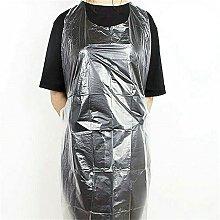 Grembiuli unisex in plastica usa e getta, 100 pezzi