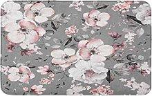 Grigio Primavera Rosa Fiori E Foglie Motivo