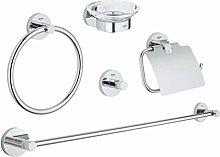GROHE Set Accessori Bagno 5-in-1 Essentials Cromo