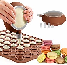 GROOFOO Set di Stampi Macarons Stampo in Silicone,