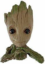 Groot Bonsai, statuetta di piccole piante, vaso