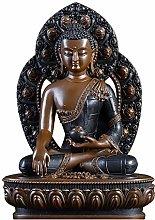 GRX-ART La Statua di Buddha in Rame Puro di