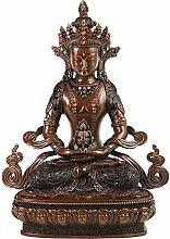 GRX-ART Rame Puro Longevità Statua di Buddha,