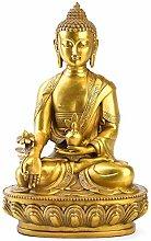 GRX-ART Statua del Buddha Farmacista di Rame Puro,