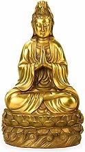 GRX-ART Statua di Buddha di Rame Puro di Guanyin,