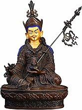 GRX-ART Statua di Buddha in Loto di Rame Puro,