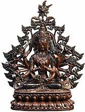 GRX-ART Statua di Buddha Quasi-Titan di Rame Puro,