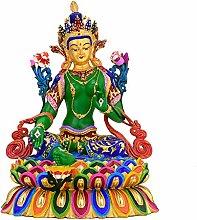 GRX-ART Statua di Buddha Verde Puro Bronzo