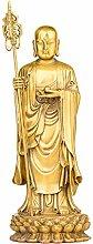 GRX-ART Statua in Bronzo Puro di Zang Bodhisattva,