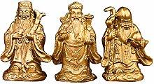 GRX-ART Statua in Puro Rame, Tre dei Che Portano