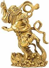 GRX-ART Statua Kuixing in Puro Rame, Decorazioni