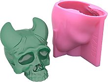 Gulang-keng 3D teschio candela stampo, personaggi