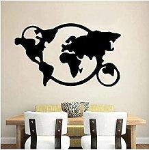 GVSPMOND Adesivo Murale Mappa del Mondo Viaggi