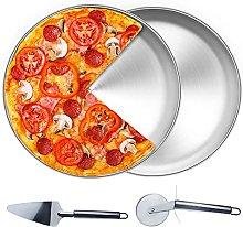 GZhaizhuan 1 teglia per pizza rotonda, 30 cm, in
