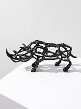 GZSBM Statua Ornamenti di Rinoceronte Ornamenti