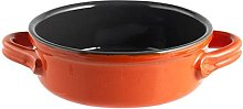 H&H 2M Arancio Home Tegame Ceramica Due Manici