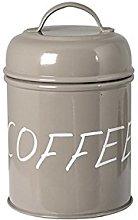 H&H 8412600 Barattolo Caffe, Metallo, Beige