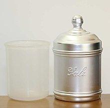 H&H Barattolo in Alluminio per Sale, Grigio