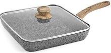 H&h bistecchiera antiaderente granwood quadrata cm