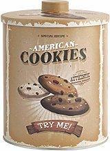 H&h cookies barattolo in latta biscotti, 16xh20cm