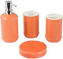 H&h set da bagno 4 pezzi ceramica milano arredo