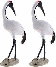 H HILABEE 2 Pezzi Statua di Uccello Animale Falso
