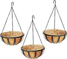 H HILABEE 3X Vaso da Fiori in Cocco da Appendere