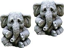H HILABEE Adorabile Elefante Figurine Pavimento
