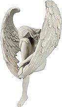 H HILABEE Angelo da Giardino con Statua di Ala