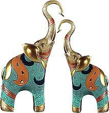 H HILABEE Buona fortuna Elefante Statua Fortunato