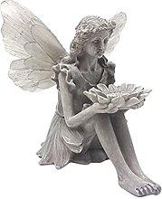 H HILABEE Statua di Fata da Giardino Fontana di