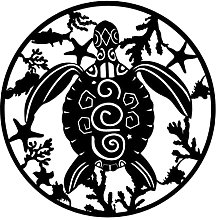 H HILABEE Tartaruga in metallo Wall Art Decorativa