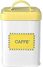 HABI 8408800 Barattolo Metallo caffè, 14 cm,