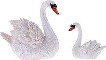 HAKLAKY Accessori Giardino 2pcs Resina Swans Model