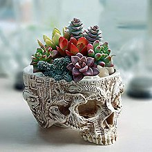 Halloween Cranio Statue Resina Testa Fioriera,Mini