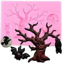 Halloween Tree Border Silicone Stampo Gufo