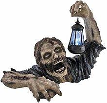 Halloween Zombie Statua con Led Lanterna,