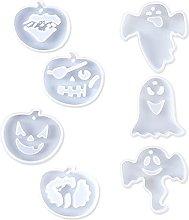 Halloween zucca fantasma appeso segno resina