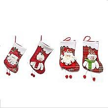 HANGH - Set di 4 calze natalizie da appendere,