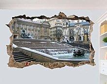 HAOGG Adesivo Effetto 3D Adesivo Murale Della