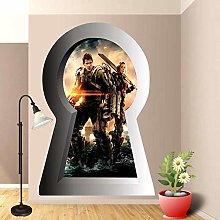 HAOGG Adesivo Effetto 3D Adesivo Murale Hero Art