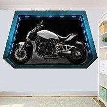 HAOGG Adesivo Effetto 3D Adesivo Murale Per Moto