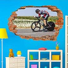 HAOGG Adesivo Effetto 3D Biciclette Sticker Art