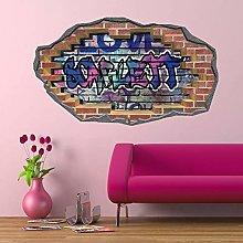 HAOGG Adesivo Effetto 3D Graffiti Nome