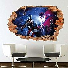 HAOGG Adesivo Effetto 3D Hero Wall Sticker Poster