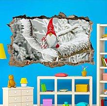 HAOGG Adesivo Effetto 3D Snow Winter Christmas