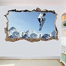 HAOGG Adesivo Effetto 3D Sport Invernali Snowboard